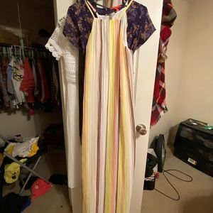 NWT Striped Forever 21 Maxi